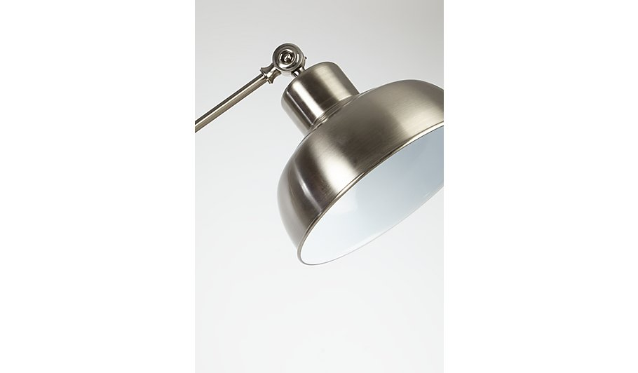 George home brushed chrome spotlight floor lamp home garden brushed chrome spotlight floor lamp aloadofball Gallery