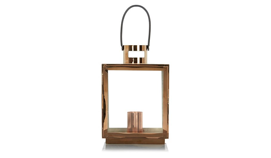 George Home Copper Effect Lantern Lamp