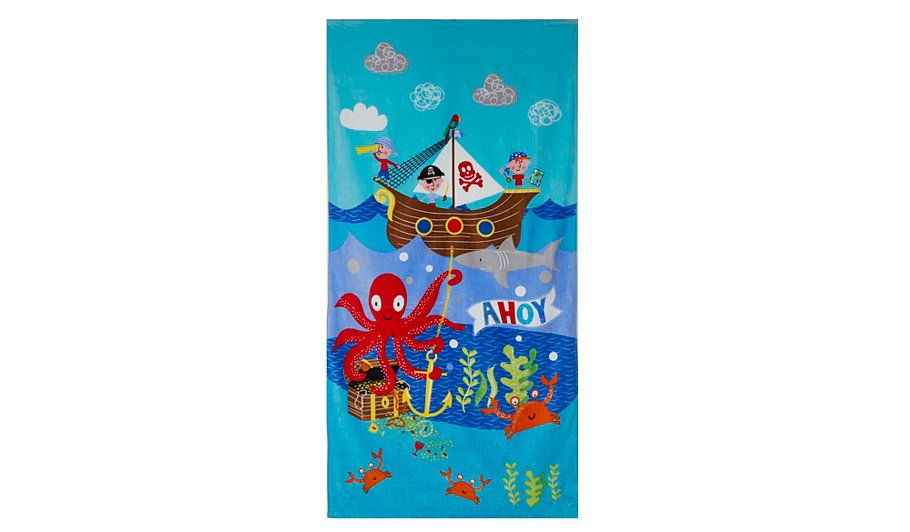 george home pirate towel home garden george at asda. Black Bedroom Furniture Sets. Home Design Ideas