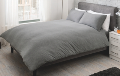 Good Jersey Duvet Set   Grey