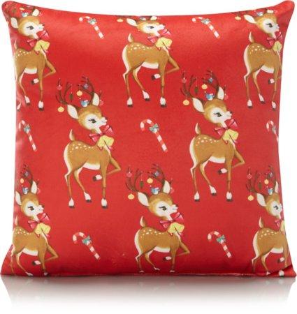 Christmas Vintage Deer Small Cushion