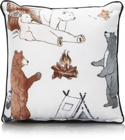Camping Bears Small Cushion