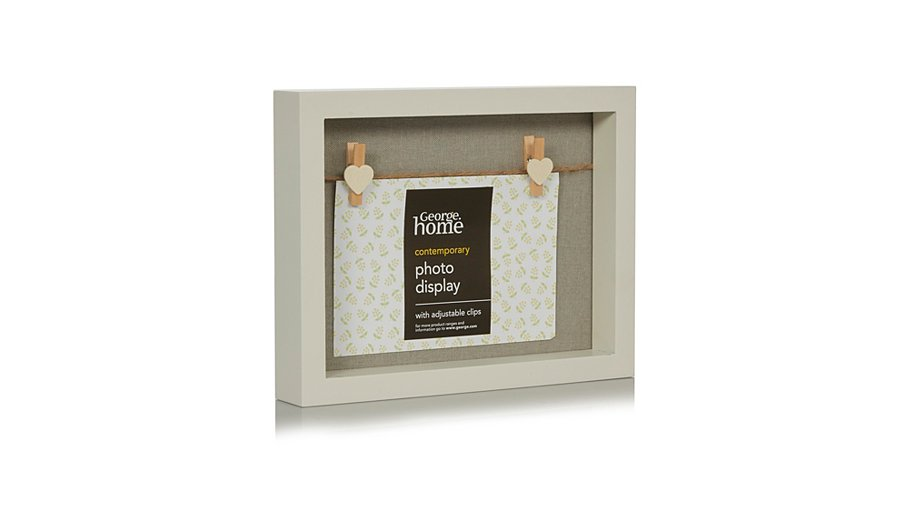 george home boxed heart pegs photo frame 4 x 6 inch. Black Bedroom Furniture Sets. Home Design Ideas