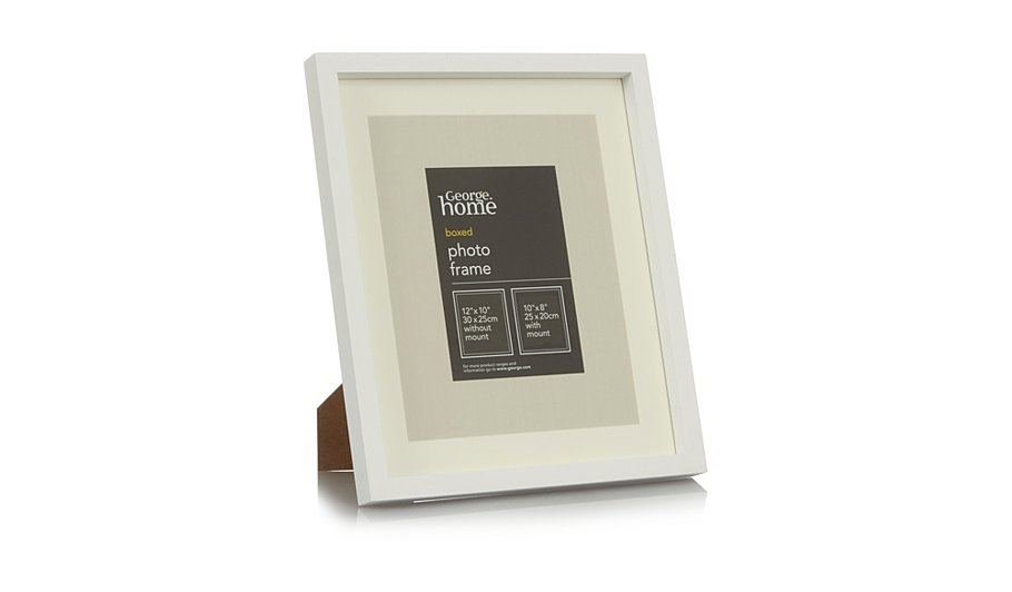 White Boxed Photo Frame-12 x 10 Inch | Photo Frames | George at ASDA