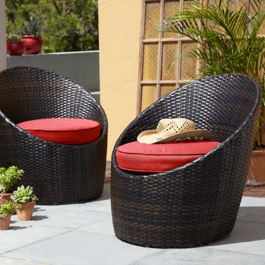 Garden Furniture Jakarta jakarta pair of egg chairs - red | home & garden | george