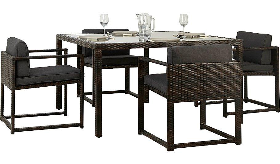 Jakarta 5 Piece Deluxe Patio Dining Set | Garden Furniture ...