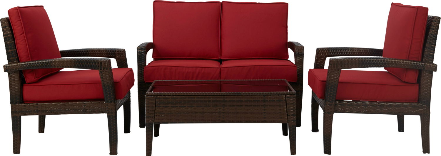 Garden Furniture Jakarta jakarta expressions sofa set - red | home & garden | george at asda