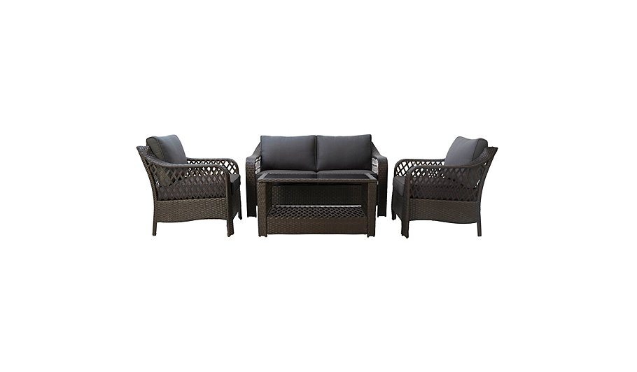 Sumatra 4 Piece Deluxe Sofa Set. Sumatra 4 Piece Deluxe Sofa Set   Garden Furniture   George at ASDA