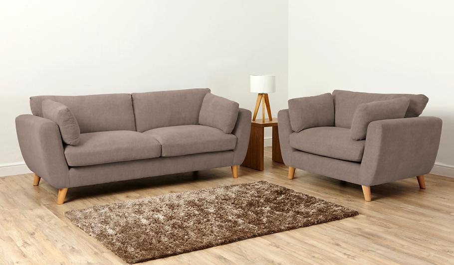George Home Glynn Large Sofa In Soft Linear Home