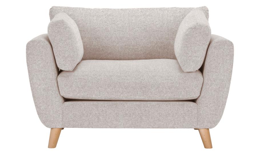 George Home Glynn Love Seat In Woollen Blend Home