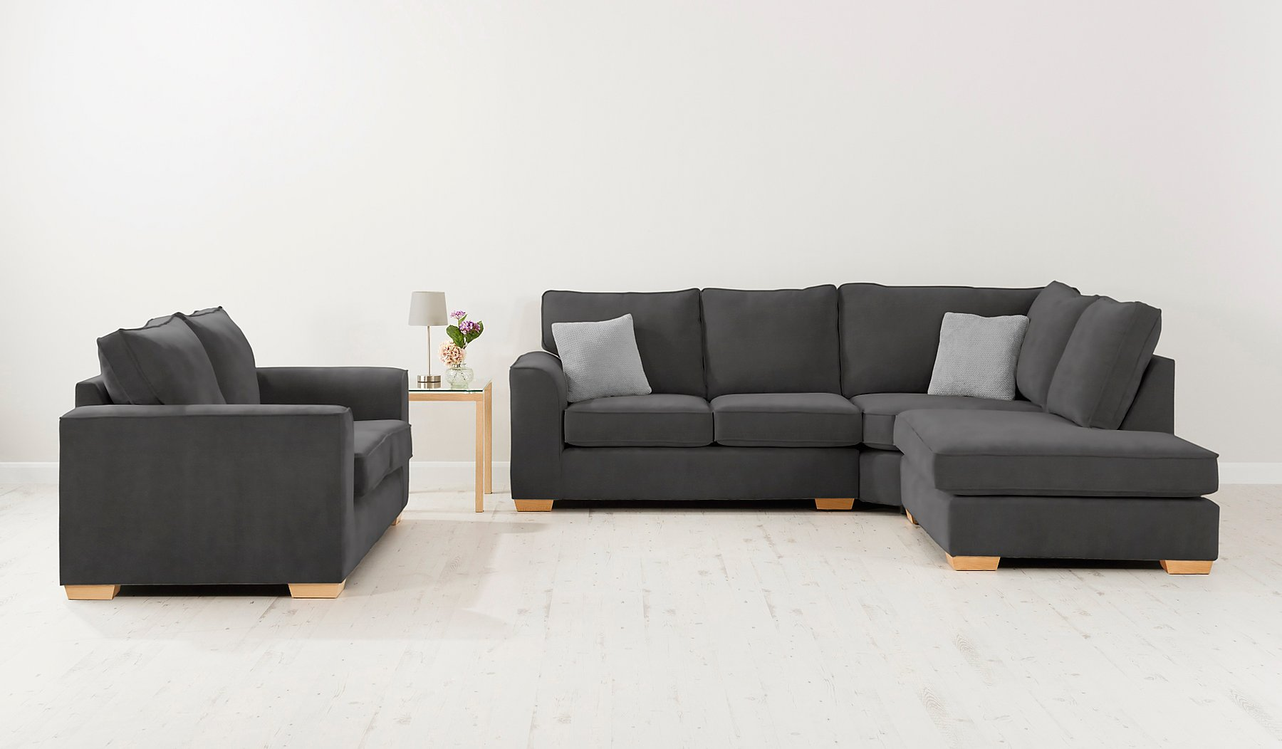 Asda direct lincoln sofa bed refil sofa for Velour divan beds