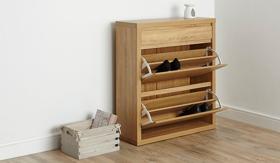 rack drawer cupboard horizon shoe inside doors cm teak