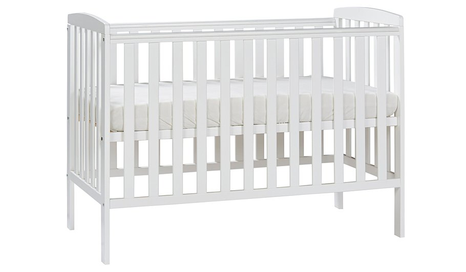 Rafferty Cot And Mattress Bundle White