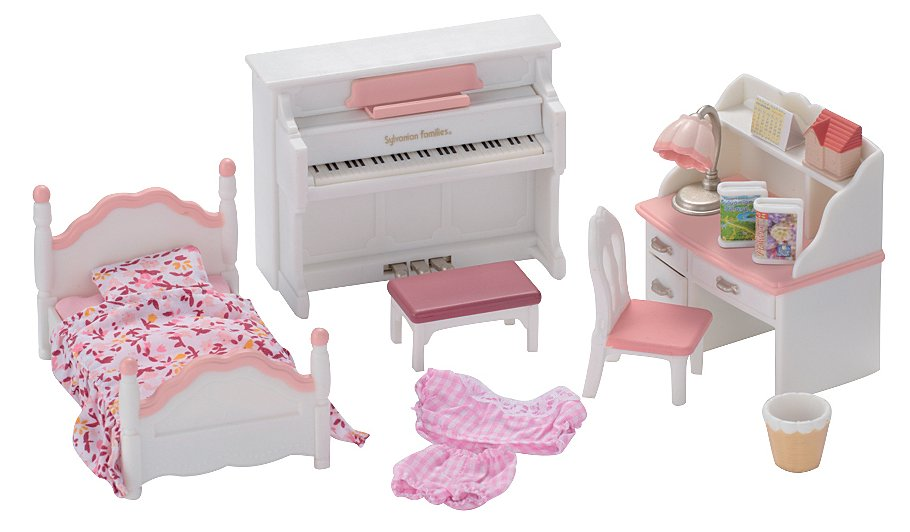 Sylvanian families girl 39 s bedroom set kids george at asda Master bedroom set sylvanian