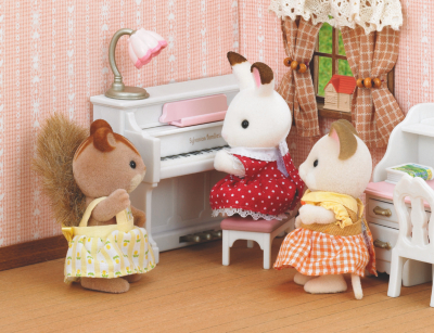 Sylvanian Families Girls Bedroom Set Kids George at ASDA