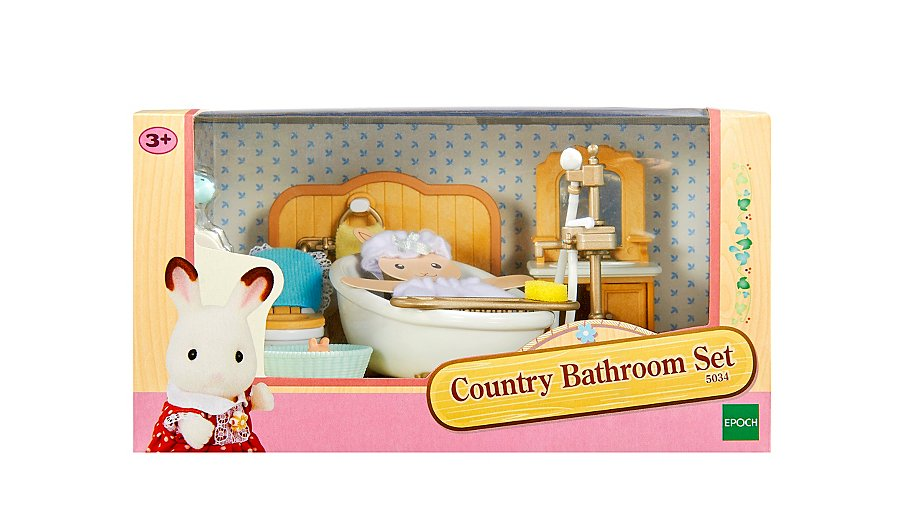 Sylvanian families country bathroom set kids george at asda Master bedroom set sylvanian