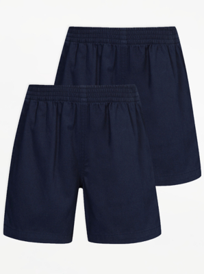 Navy School Rugby Shorts 2 Pack
