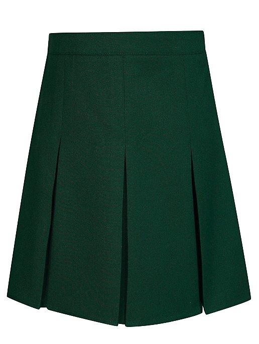 563ce29a0a Girls Bottle Green Pleated School Skirt | School | George