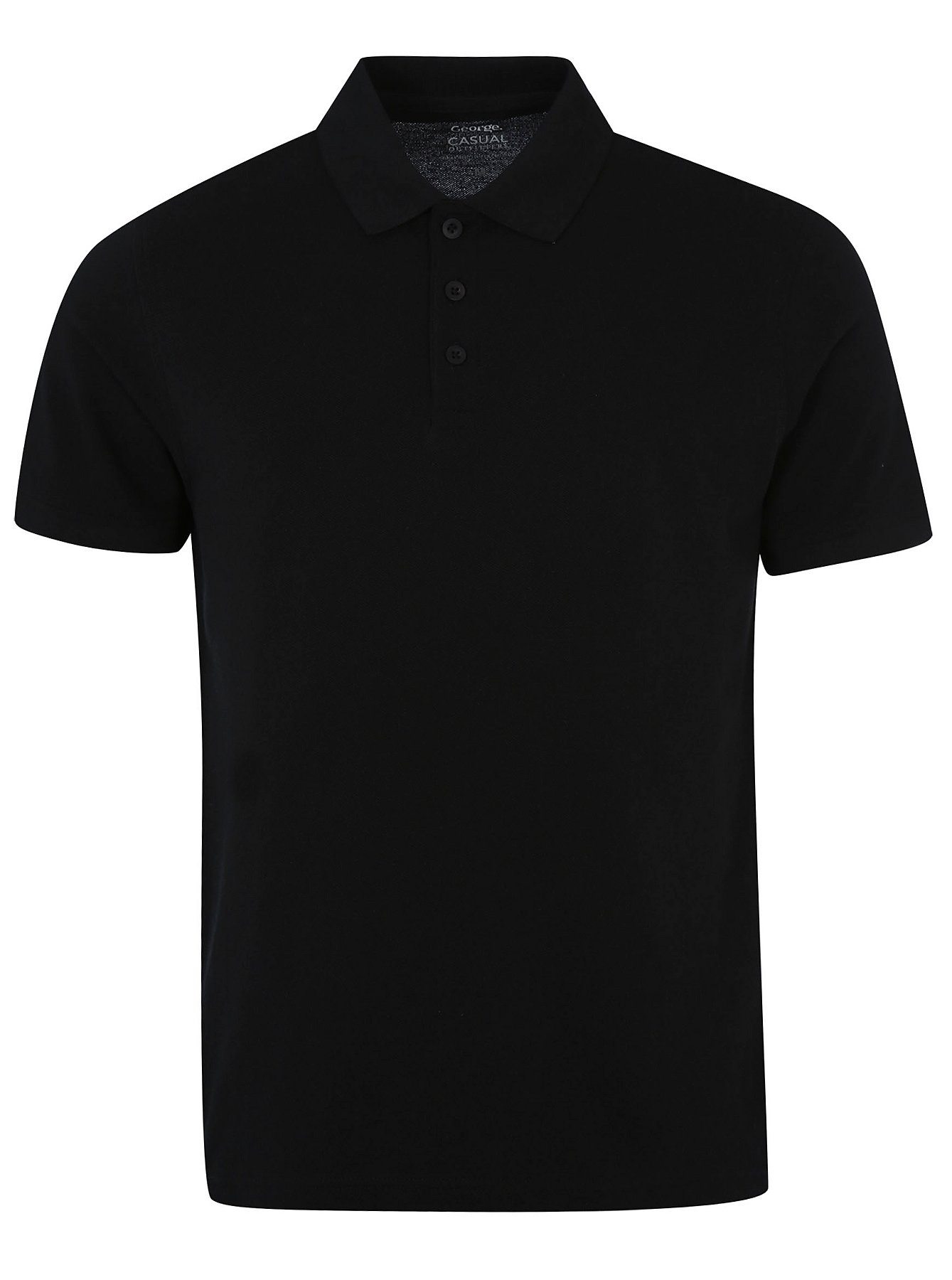Men\'s Polo Shirts in Black | George at ASDA