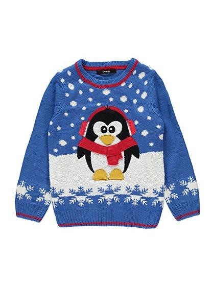 christmas penguin jumper boys george at asda. Black Bedroom Furniture Sets. Home Design Ideas
