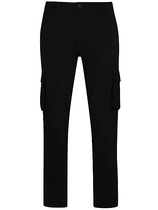 5a3002e20 Black Cargo Trousers. Reset