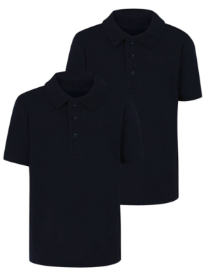 Navy School Polo Shirt 2 Pack