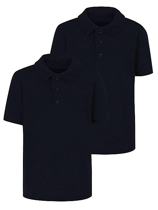 9da75f61b28 Navy School Polo Shirt 2 Pack | School | George