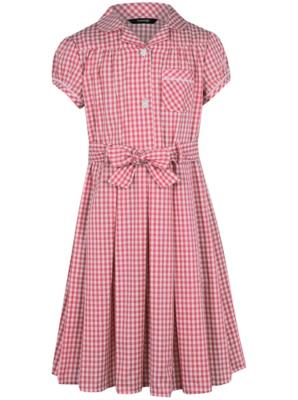Girls School Gingham Dress Red George Asda