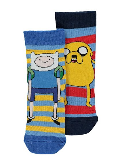 2 Pack Adventure Time Socks - 2 Pack Adventure Time Socks Boys George At ASDA