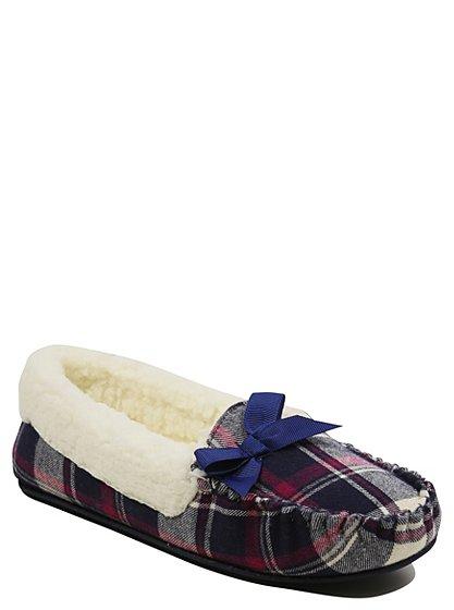 check moccasin slippers women george at asda. Black Bedroom Furniture Sets. Home Design Ideas