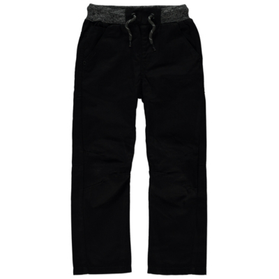 George Rib Waist Trousers - Black, Black.