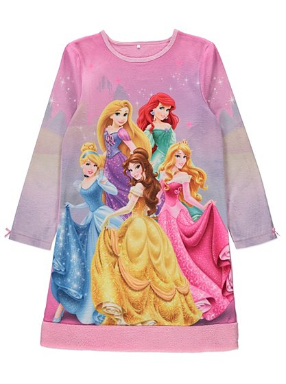 Disney princess fleece nightdress kids george at asda for Disney princess mural asda