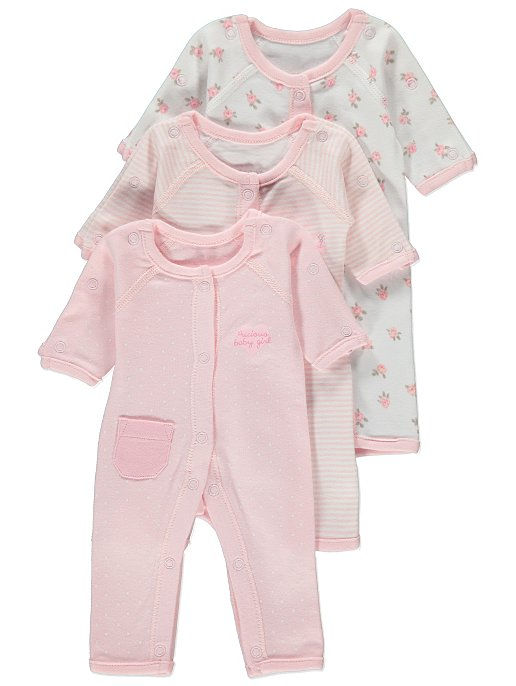 ac6cc46a6 Premature Baby 3 Pack Sleepsuits