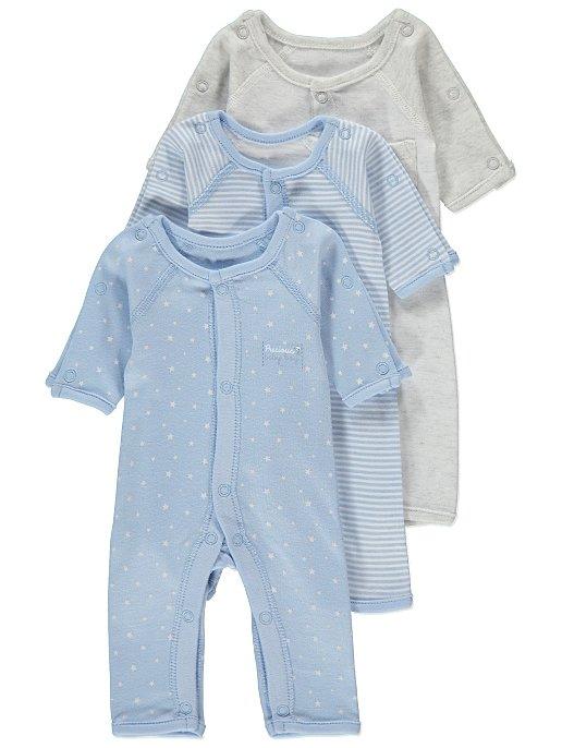 1b182c2e7 Blue Premature Baby Sleepsuit 3 Pack   Baby   George