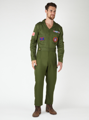 sc 1 st  George - Asda & Adult Top Gun Fancy Dress Costume | Men | George at ASDA