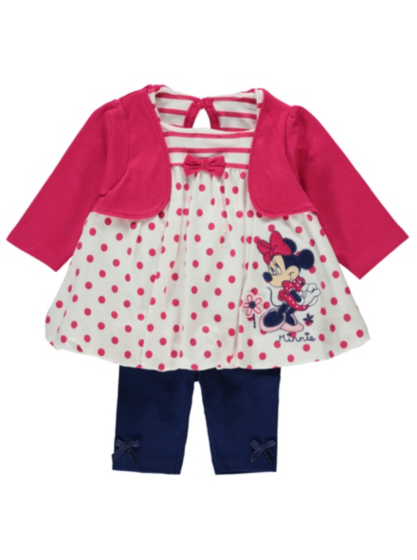 Disney Minnie Mouse Dress and Leggings Set | Baby | George at ASDA