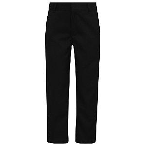Boys Black Slim Leg Adjustable Waist School Trousers