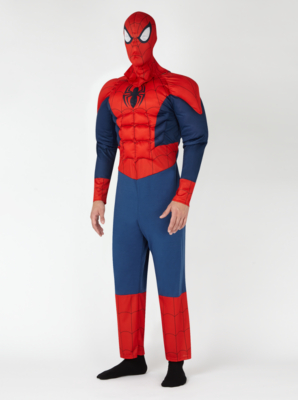 & Adult Spiderman Fancy Dress Costume | Men | George at ASDA
