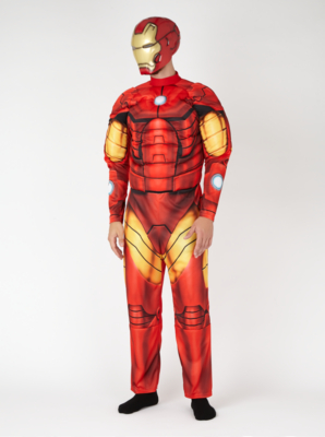 & Adult Iron Man Fancy Dress Costume | Men | George at ASDA