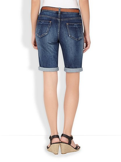 Knee Length Belted Denim Shorts | Women | George at ASDA