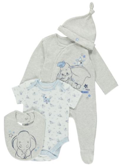 4 Piece Disney Dumbo Starter Set | Baby | George at ASDA