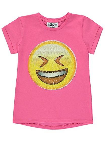 Sequin emoji t shirt kids george at asda for Sequin t shirt changing