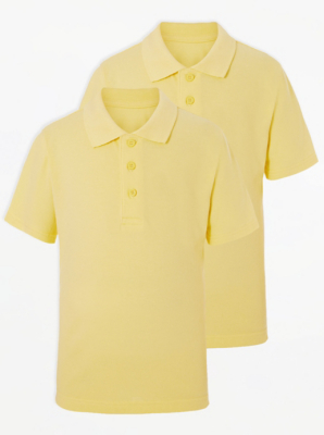 Yellow School Polo Shirt 2 Pack
