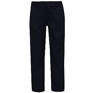 Boys Navy Slim Fit Adjustable Waist School Trousers