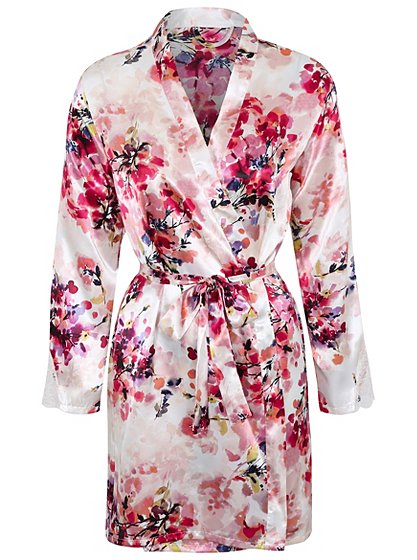 Floral Dressing Gown   Women   George at ASDA