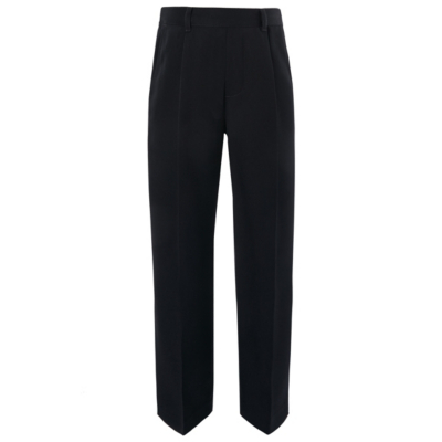 George Boys School Half Elasticated Waist Trousers - Navy, Navy.