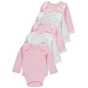 e1b8d603b 5 Pack Long Sleeve Bodysuits