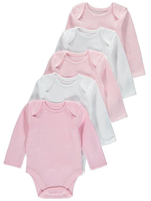 da8962ed4 5 Pack Long Sleeve Bodysuits