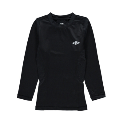 George Umbro Base Layer Long Sleeve Top - Black