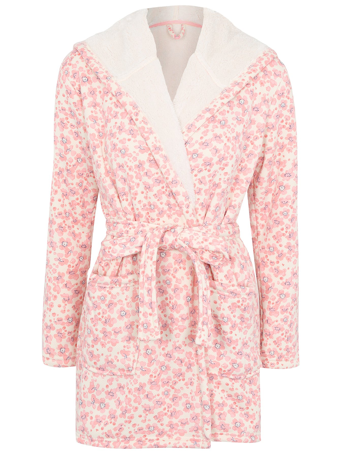 Floral Print Hooded Dressing Gown | Women | George at ASDA